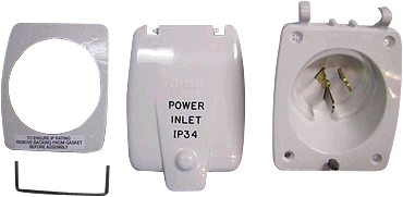 Clipsal Old Style 15 Amp Power Inlet