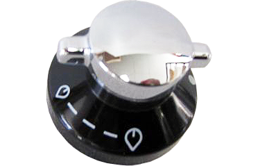 Control Knob To Suit Belling Hot Plate. (Chrome/Black)