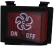 "Rangehood  Switch Red ""Fan"" Logo"