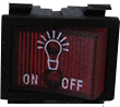 "Rangehood  Switch Red ""Light"" Logo"