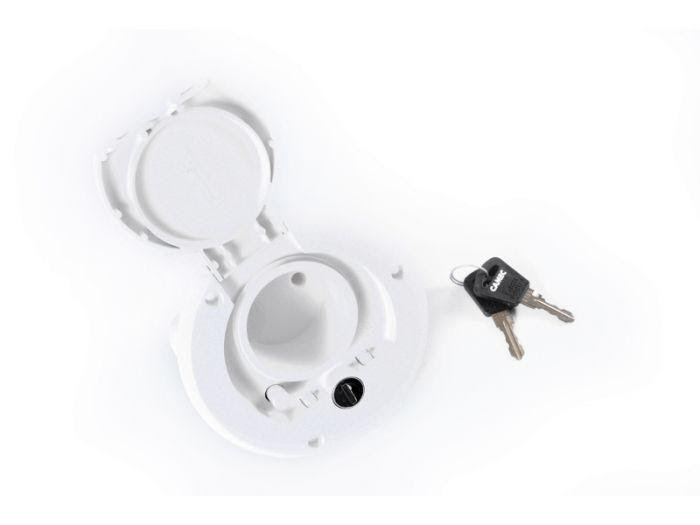 CAMEC LOCKABLE WATER FILLER WITH LEFT-HAND HINGE