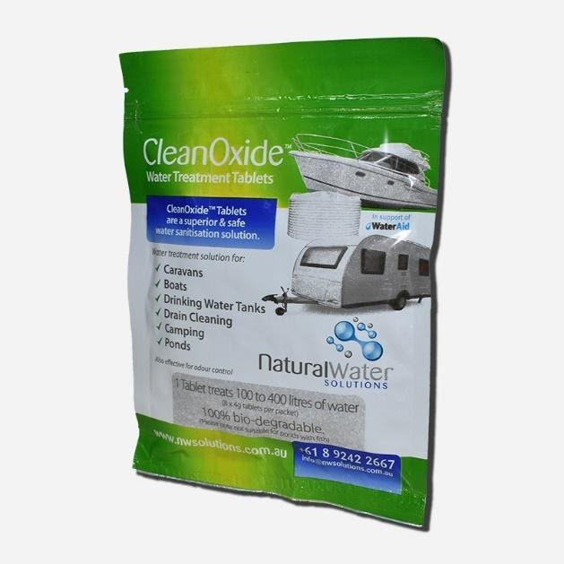 CLEAN OXIDE NATURAL WATER CHLORINE DIOXIDE TABLETS