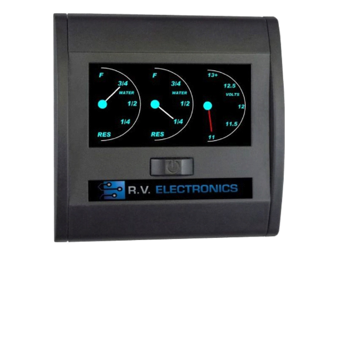 DOUBLE WATER TANK GAUGE & 1 BATTERY GAUGE LCD BACKLIT
