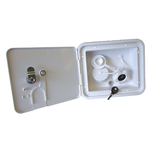 JAYCO DUAL LOCKABLE WATER FILLER WITH PLASTIC VALVE