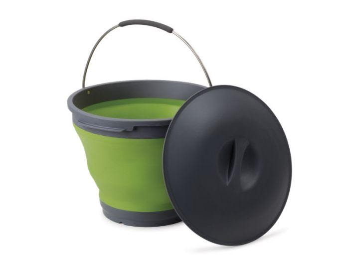POP-UP BUCKET WITH LID 9.5L