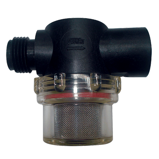 "TWIST FILTER WITH ½"" THREAD INLET AND OUTLET"