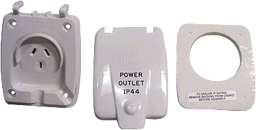 Clipsal Old Style Double Pole Power Outlet