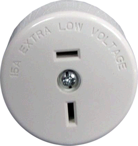 Clipsal 2 Pin 15Amp Fixed Polarity Socket White