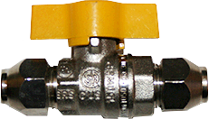 "3/8"" x 3/8"" SAE Hyflow Flared Ball Valve"