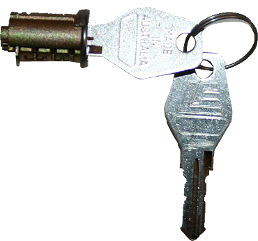 Camec 3 Point Door Lock, Barrel And Keys