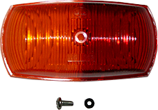 Hella 2029 Red/Amber Side Marker Lens
