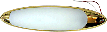 Lumo Ellipse 12V 2 X 8W Brass Fluorescent Light